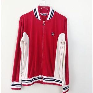 Fila Red Track Jacket